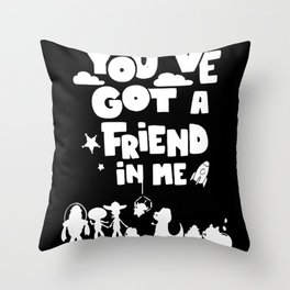friend with me Throw Pillow