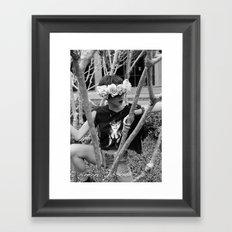 Nu Goth Fairy Framed Art Print