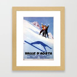 Aosta Valley winter sports Framed Art Print