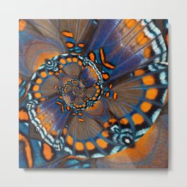 Fly With Me - Butterfly Wing Photography by Fluid Nature Metal Print