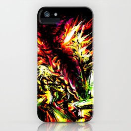 Metroid Metal: Ridley- Through the Fire.. iPhone Case