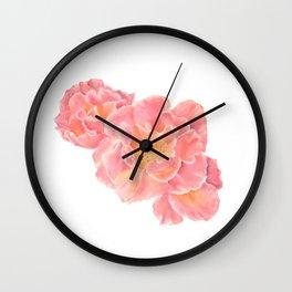 Three pink roses Wall Clock