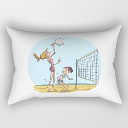 Beach volleyball girls team Rectangular Pillow