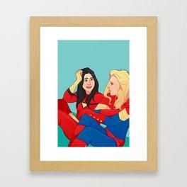 Besties 4 Lyfe Framed Art Print