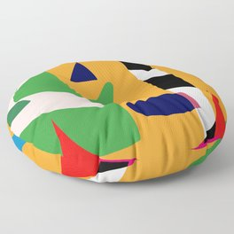 Bold and vibrant abstract shapes Floor Pillow