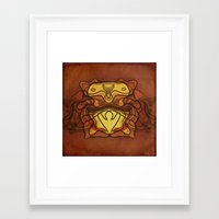 totem Framed Art Prints featuring Totem by SensualPatterns