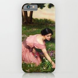 Spring Spreads One Green Lap of Flowers by John William Waterhouse iPhone Case