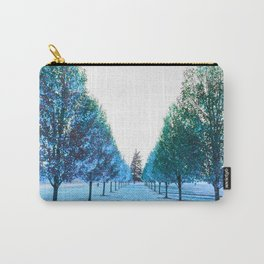 Path to Reality : Turquoise Teal Trees Carry-All Pouch