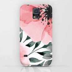 Big Watercolor Flowers Galaxy S5 Slim Case
