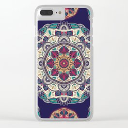 Colorful Mandala Pattern 007 Clear iPhone Case