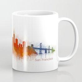 San Francisco City Skyline Hq v3 Coffee Mug