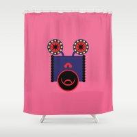 lsd Shower Curtains featuring LSD: Dream Emulator Character B6 by G.D.D.E