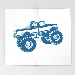 Monster Truck Throw Blanket