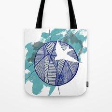 Blue Doodle Tote Bag