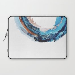 Galaxies Collide: a minimal, abstract watercolor in blues and pink by Alyssa Hamilton Art Laptop Sleeve
