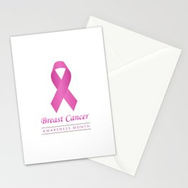 Breast cancer awareness pink ribbon- graphic to support women suffering from breast cancer Stationery Cards