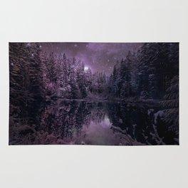 A Cold Winter's Night : Winter Wonderland Dark Purples Rug