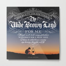 Wide Brown Land #A07 Metal Print