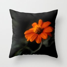 Single Orange Flower Throw Pillow