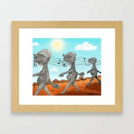 """Dr. Seuss' """"Michael Stipe""""  Framed Art Print"""