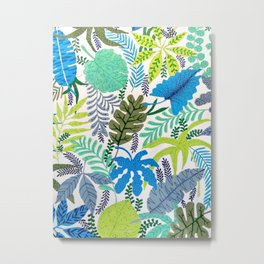 TROPICAL BREEZES PATTERN Metal Print