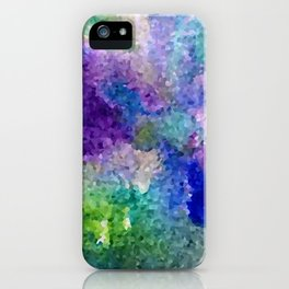 Abstract Crystals iPhone Case
