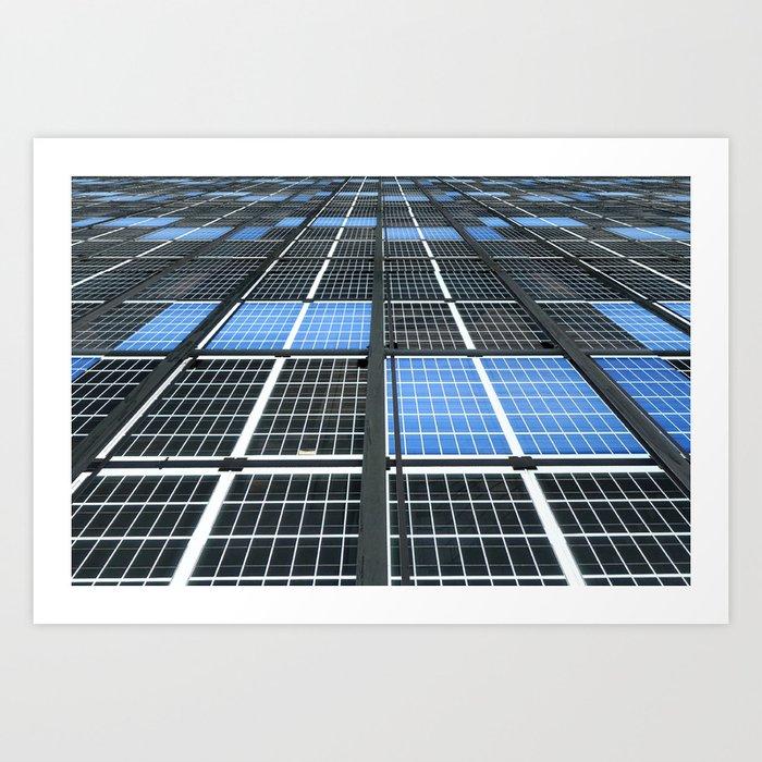 Solar Panel Wall >> Solar Panel Wall Art Print By Shiyali Society6