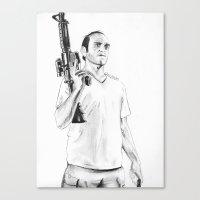 grand theft auto Canvas Prints featuring Grand Theft Auto 5 by Chris Samba