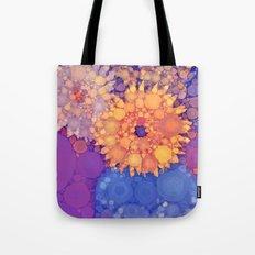 Vintage Flowers in the rain Tote Bag