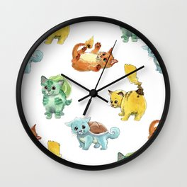 Starter Pokekittens Team Wall Clock