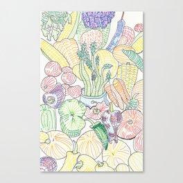 Vegetable Cornucopia Canvas Print