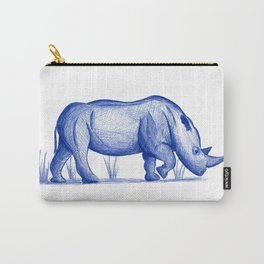 Save The Rhinos (50% of commissions are donated to the World Wildlife Fund) Carry-All Pouch