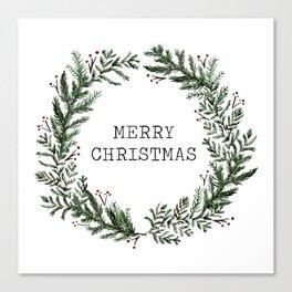 Simple Merry Christmas Canvas Print