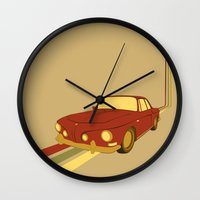 70s Wall Clocks featuring 70s by Maestral