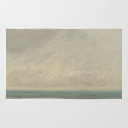 Gustave Courbet Calm Sea 1866 Painting Rug