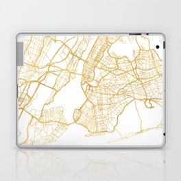 NEW YORK CITY NEW YORK CITY STREET MAP ART Laptop & iPad Skin