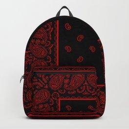 Classic Black and Red Bandana Backpack