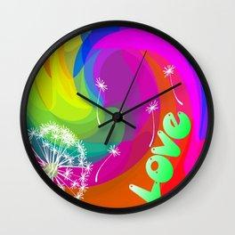 i wish you love 2 Wall Clock