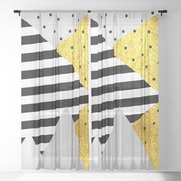 fall abstraction #4 Sheer Curtain