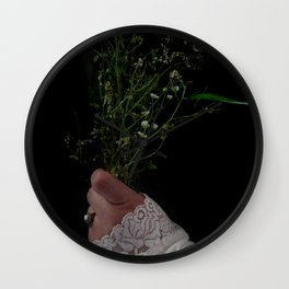 I Brought You Wildflowers But All You Saw Were Weeds Wall Clock