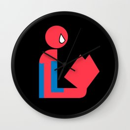 Gentleman Spider Reads Wall Clock