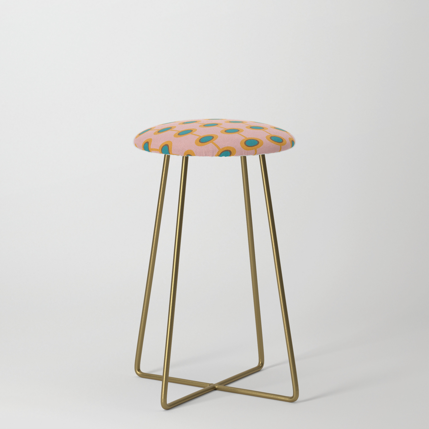 Image of: Flower Pod Pink Mid Century Modern Counter Stool By Susycosta Society6