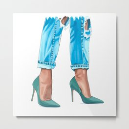 Green shoes Metal Print