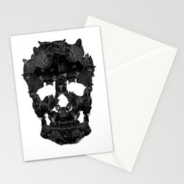 Sketchy Cat skull Stationery Cards
