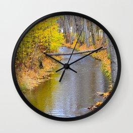 Autumn Stream II Wall Clock