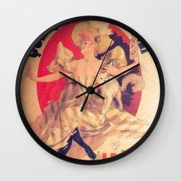 Quinquina Dubonnet 1895 By Jules Cheret | Reproduction Art Nouveau Wall Clock