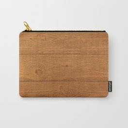 The Cabin Vintage Wood Grain Design Carry-All Pouch