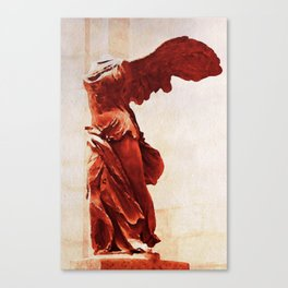 Winged Victory In The Louvre Canvas Print