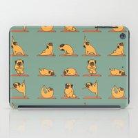pug iPad Cases featuring Pug Yoga by Huebucket