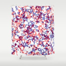 broken, red and blue Shower Curtain